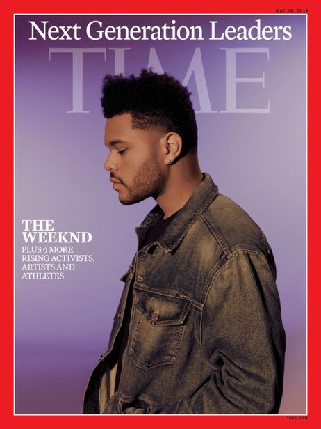 Micaiah Carter c/o GIANT ARTISTS photographed singer, songwriter, and producer, The Weeknd, for Time Magazine's Next Generation of Leaders cover.