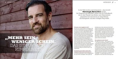 Christoph Metzelder für Magnet Magazin