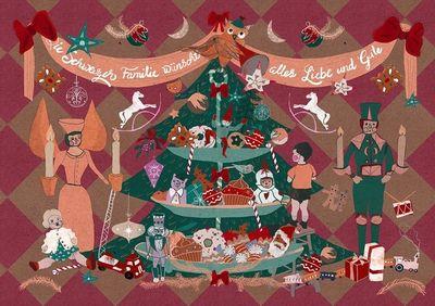 SANDRA BEER - Weihnachtsmotiv / Schweizer Familie