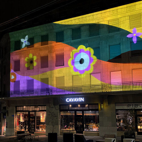 A projection mapping animation for Lausanne Lumières Festival 2020 by Catherine Pearson c/o MAKING PICTURES
