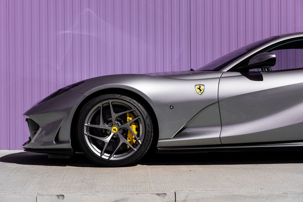 WILDFOX RUNNING: David Fischer with Ferrari 812 Superfast