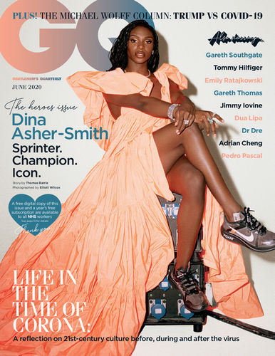 GQ Magazine with Dina Asher-Smith by Elliott Wilcox c/o MAKING PICTURES