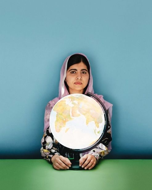 Tom van Schelven c/o MAKING PICTURES photographed Malala Yousafzai, the global influencer for female education, for Stylist Magazine's cover story