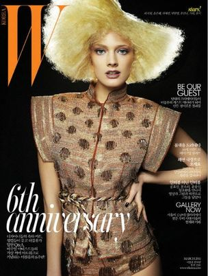 MUNICH MODELS : CONSTANCE Jablonski for W MAGAZINE