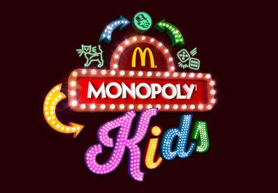 Leuchtreklametafeln für die aktuelle Monopoly-Kampagne