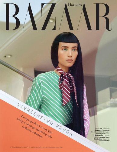 Luping for Harpers Bazaar Serbia Januar 2018 shot by Emilio G. Hernandez