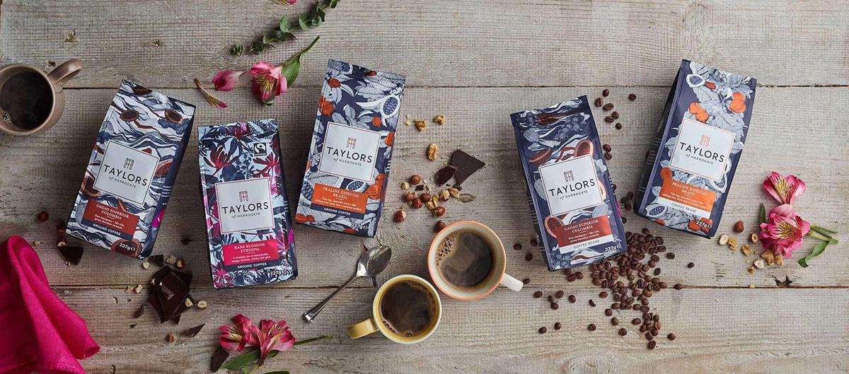 WILDFOX RUNNING: Suthipa Kamyam with packaging for Taylors of Harrogate Single Origin Coffee