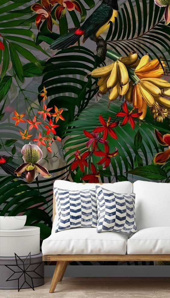 UTART Palm Leaf Paradise Wallmural