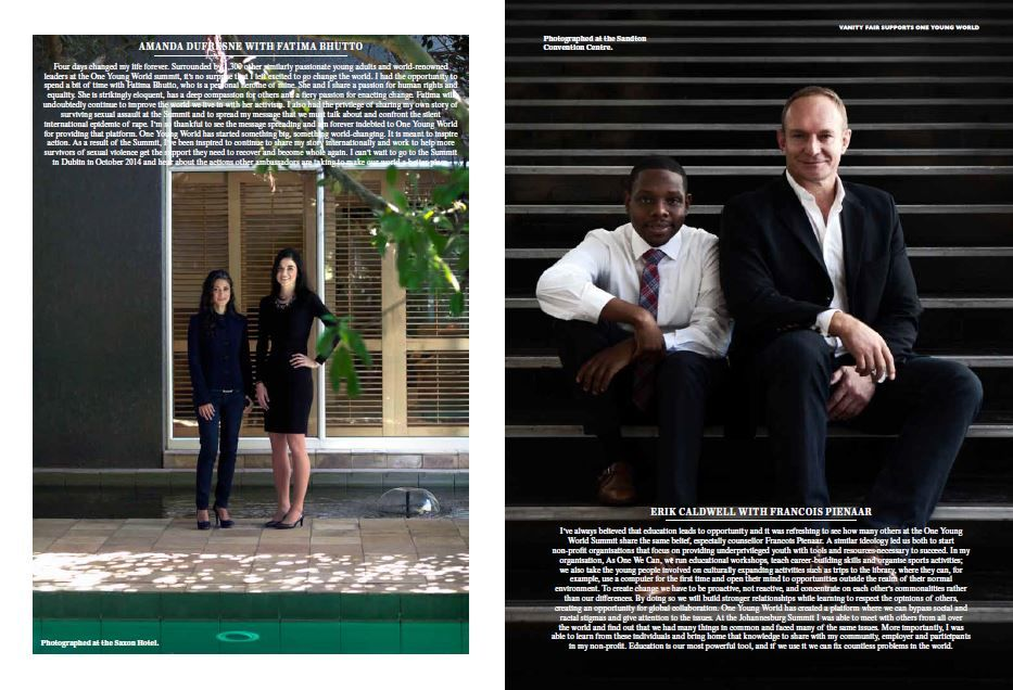 CAPE TOWN PRODUCTIONS for VANITY FAIR / ONE YOUNG WORLD