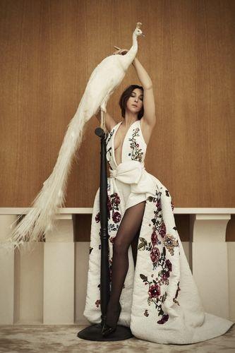 Monica Bellucci, shot by Jennifer Massaux, fashion Editor Geoffrey Masure and production Smart, Paris, Hyatt Vendome