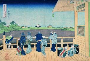 Die Halle Sazaidô des Tempels Gohyaku-rakanji © Katsushika Hokusai Museum of Art