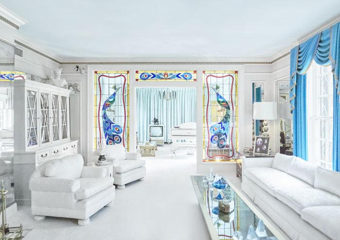 Elvis Presley's living room at Graceland by photographer Lodewijk Duijvesteijn