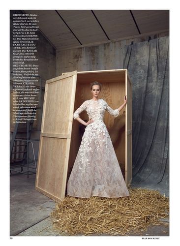 ASA TALLGARD with IZA OLAK for ELLE Germany wedding special