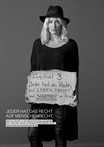 'Jeder hat das Recht auf Menschenrecht' campaign