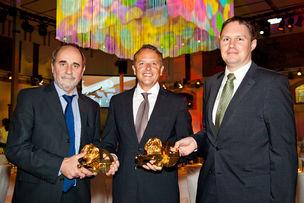 Winner Dinner 2011 : Rainer Hanus (Hamburger Senatskanzlei), Florian Weischer (WerbeWeischer), Dr. Carsten Brosda (Hamburger Senatskanzlei)