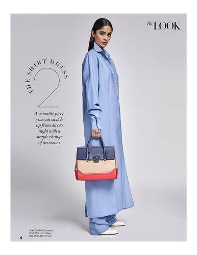 Alyssah for Harpers Bazaar Arabia Januar 2018 shot by Enrique Vega