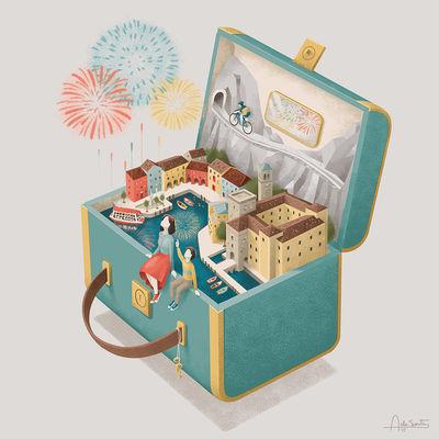 Andrea de Santis für einen italienischen Kalender by Cassa Alto Garda