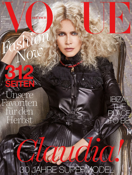 PRODUCTION BERLIN - VOGUE Germany Cover Story with Claudia Schiffer by Giampaolo Sgura