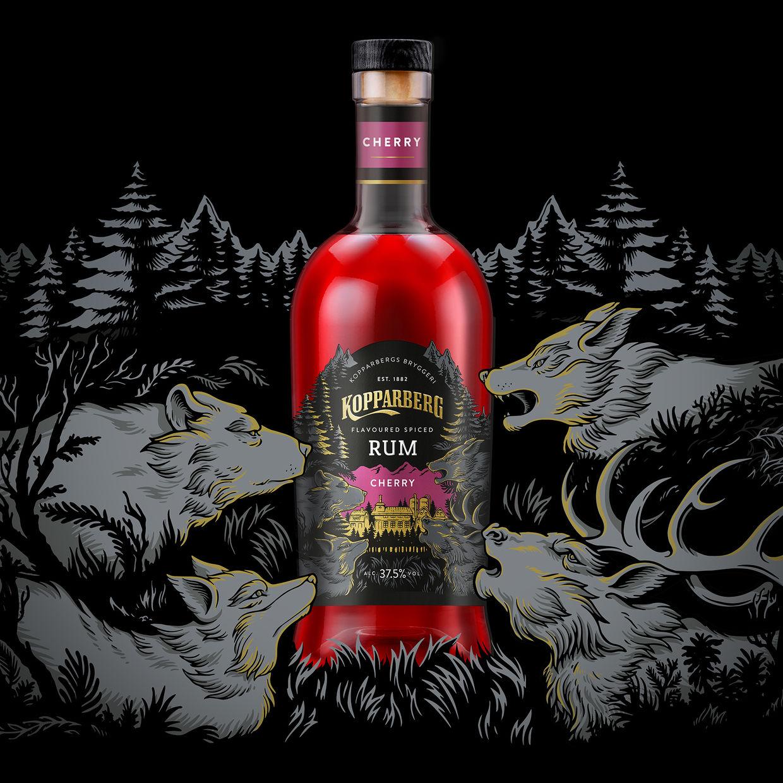JSR AGENCY Kopparberg's new Cherry Spiced Rum packaging design by Iain Macarthur