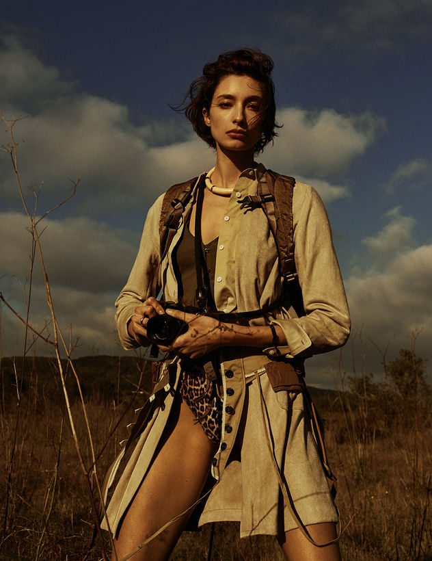 Alexandra Agoston shot by Alex Waltl for VOGUE NL