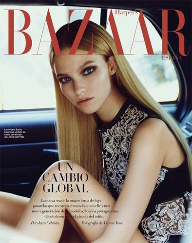 BALLSAAL : Tyron Machhausen (Make-up) for Harper's Bazaar Spain October 2015
