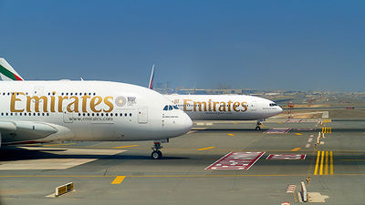 A380 and Boeing 777 @ Dubai Airport