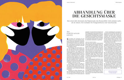 Joanna GNIADY c/o 2AGENTEN for WW MAG 'TREATISE ON THE FACE MASK'