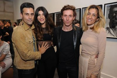 """HUNTER & GATTI : """"IWMYAS"""" Gold Series exhibited at Rudolf Budja Gallery Editions, Miami.  Opening Preview hosted by Toni Garrn and Jon Kortajarena"""