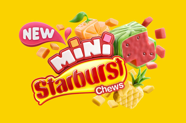 Cream Electric Art c/o JSR AGENCY : work of fruity flavours for Starburst Chews