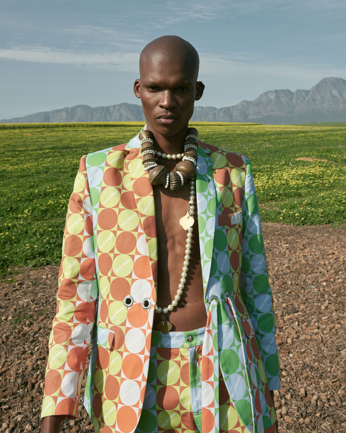 Styling by Peter Georgiades, represented by Disco Creatives for Rich Mnisi's new Mafamba Yexe SS 22 Collection