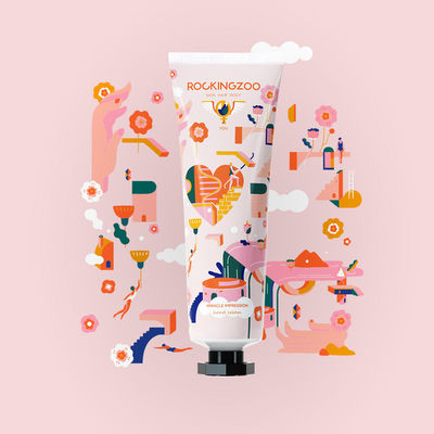 Trajan Jia c/o JSR AGENCY for RockingZoo 'An emerging cosmetics brand engaged us to create illustrative works for their new products.'