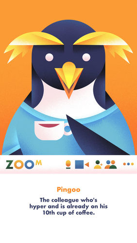 'When Zoom can feel like a Zoo sometimes....' Personal Project by Catherine Pearson c/o MAKING PICTURES ILLUSTRATION