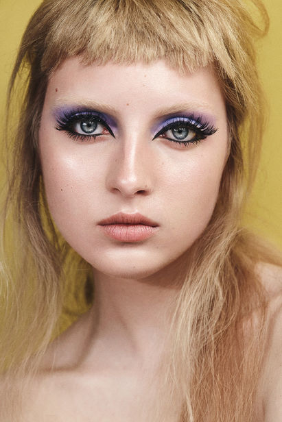 Beauty editorial with lovely emma shot in StagStudio, munich. Hair&Make Up by Jochen Pahs @ Ballsaal.