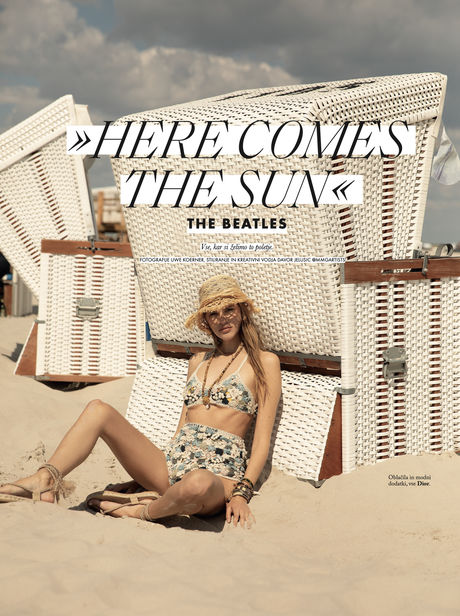 'HERE COMES THE SUN' with Kim Riekenberg for ELLE Slovenia by UWE KOERNER