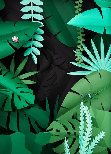 Paper Art Set Design for Barbara Magazine