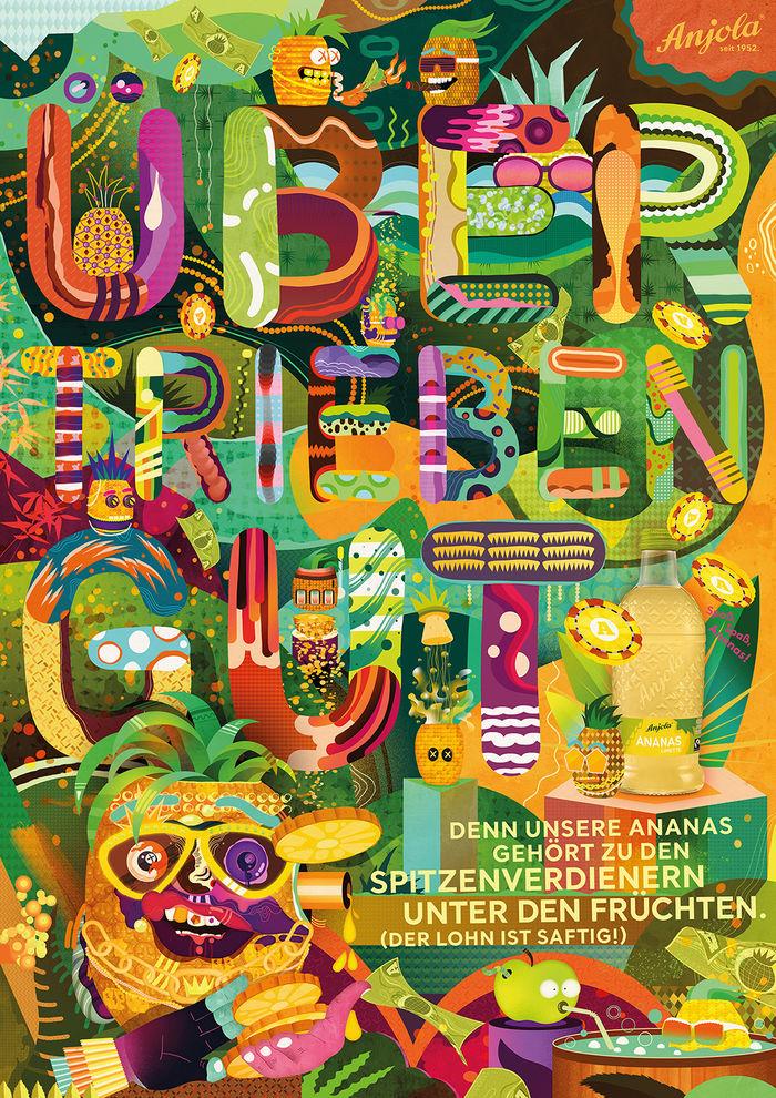Ad campaign for german pineapple lemonade ANJOLA by Mathis REKOWSKI c/o 2AGENTEN