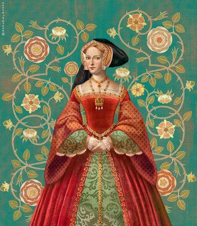 BALBUSSO TWINS Jane Seymour Queen portrait