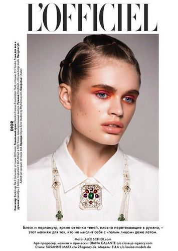 Ella Hope for L'Officiel Latvija shot by Alex Schier