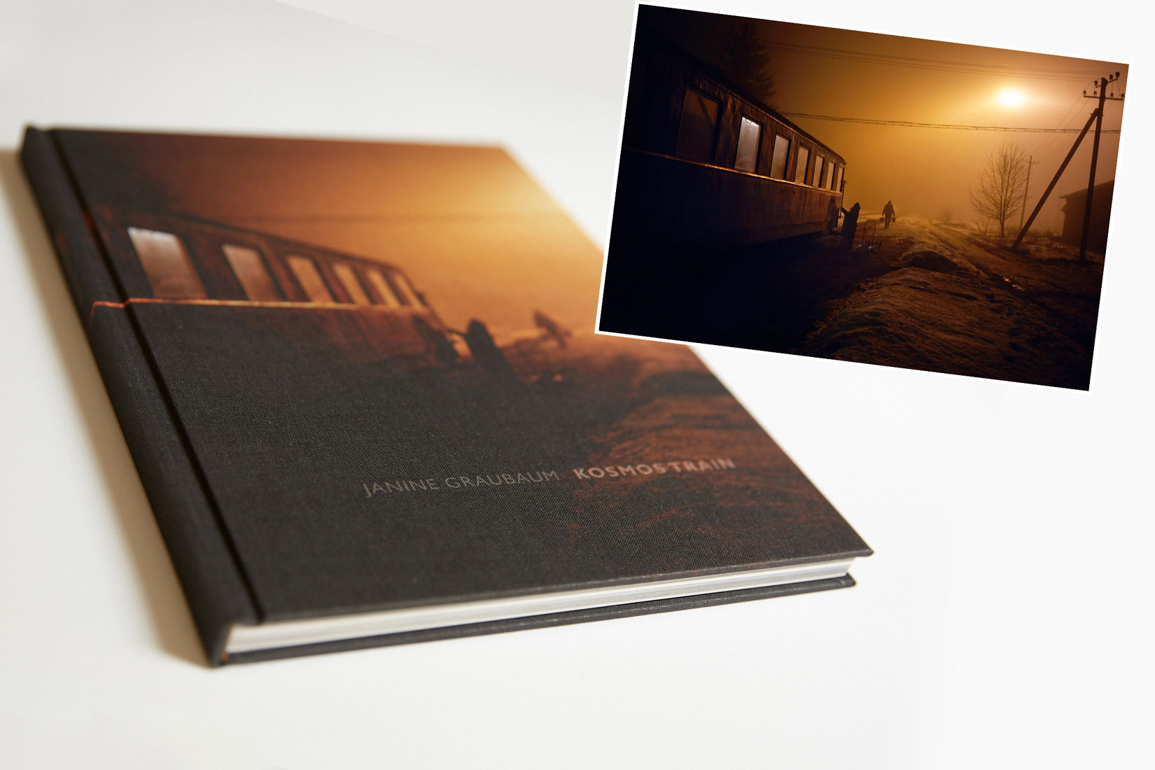"Special Edition Photo Book + Print ""KOSMOS TRAIN"" by JANINE GRAUBAUM (hardcover) + signed"