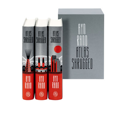 BALBUSSO TWINS - Cover Design Ayn Rand's Atlas Shrugged published by Folio Society 2018 - illustrated 3-volume set
