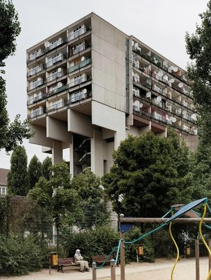 PINAKOTHEK :  Gerrit ENGEL, Berlin, 1977, 'Sozialpalast'.