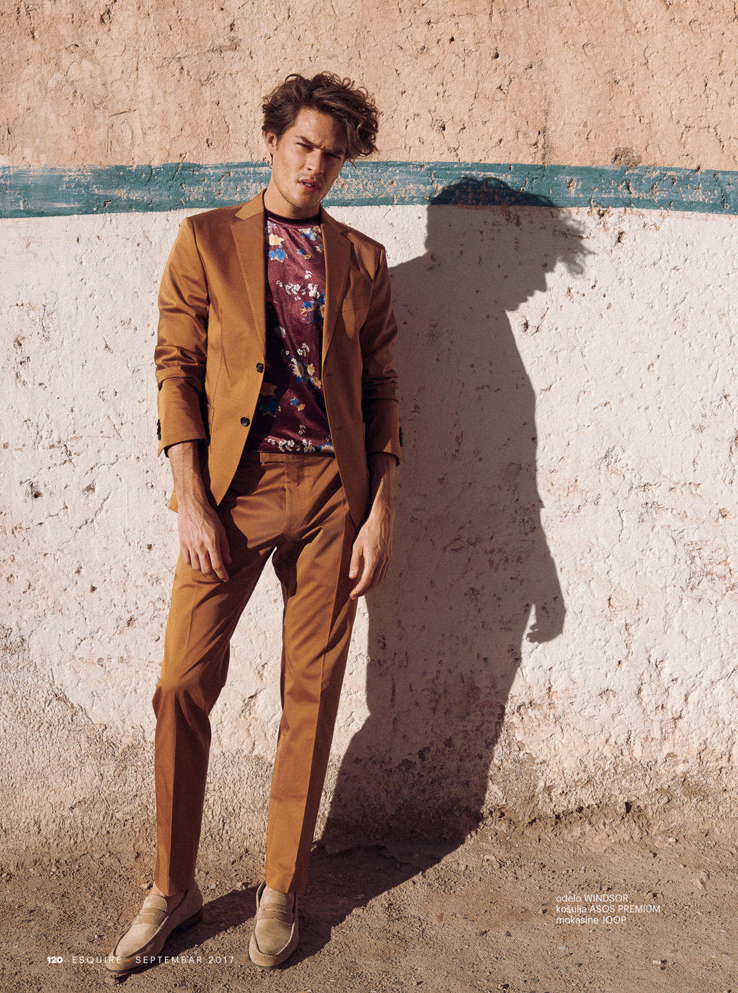 Desert Editorial with Model Ceasar Casier for Esquire Serbia by Photographer Stephan Glathe