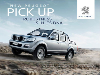 CONTINENTAL PRODUCTIONS for NEW PEUGEOT PICK UP