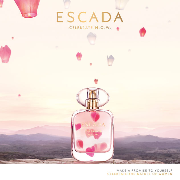 NADINE BRASE for Escada Fragrance N.O.W.