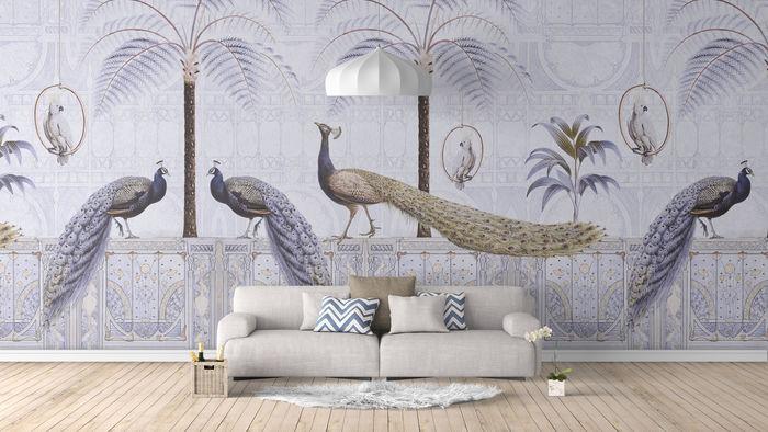 Vintage Peacock Wall Mural