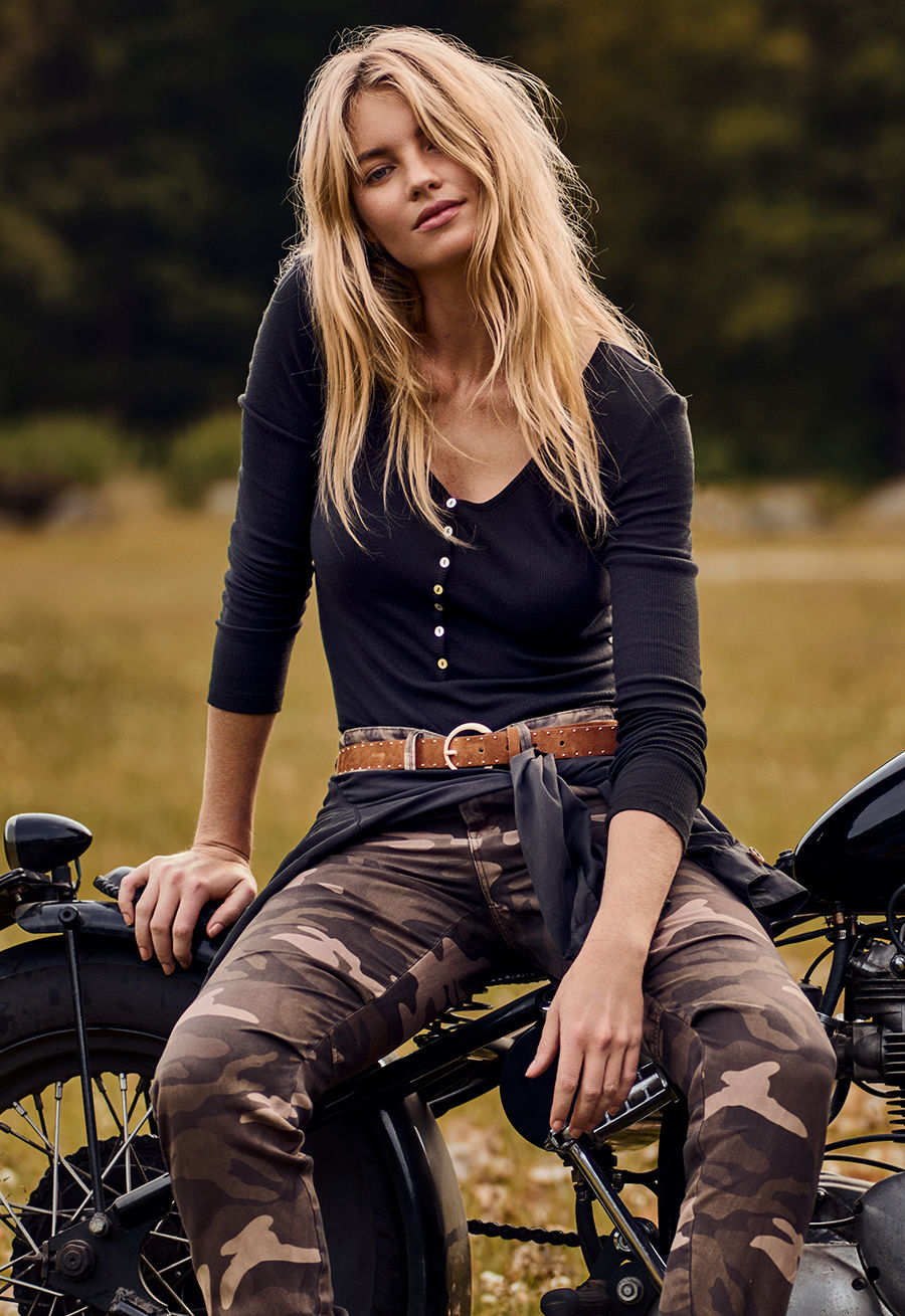 Elyse Taylor for Buffalo Jeans shot by Billy Kidd