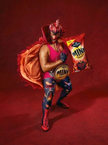 TODD ANTONY : making wearing a mask to a whole new level. Loooaads of fun shooting this Lucha Libre inspired campaign for Mini Cheddars