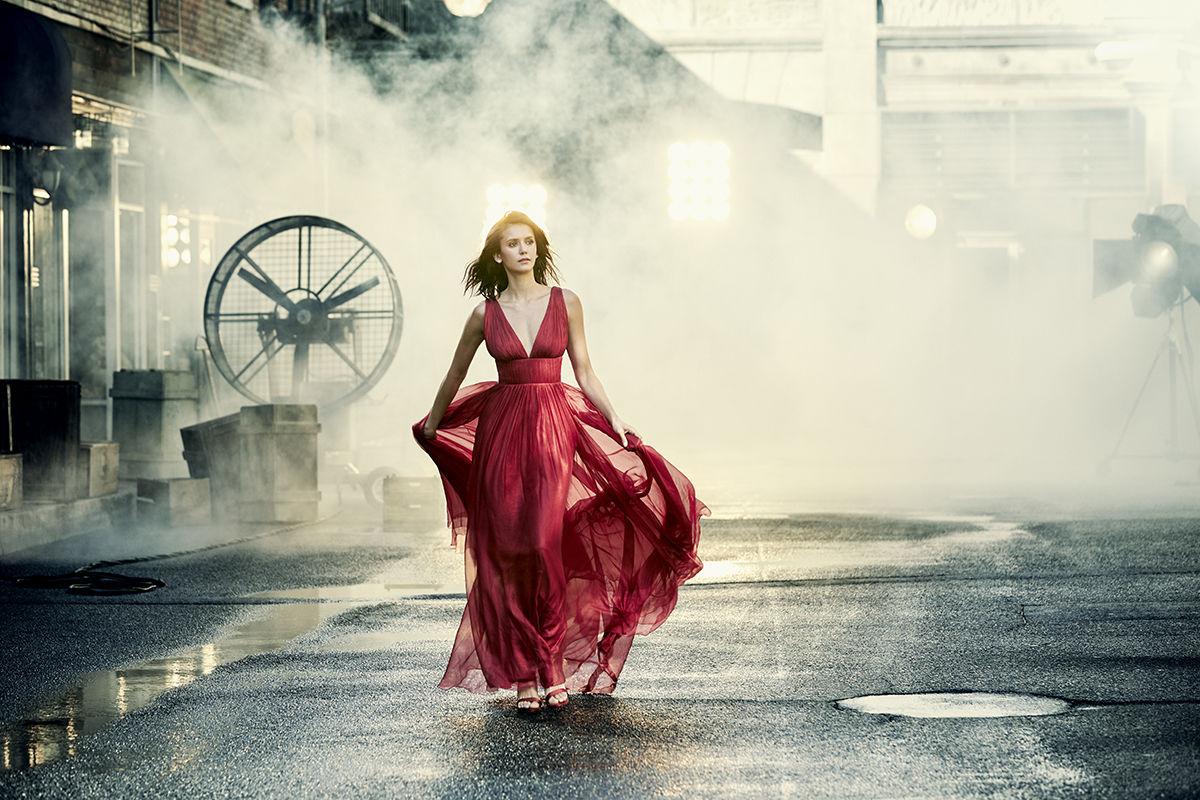 Nina Dobrev shot by Jason Kim for CBS Watch Magazine
