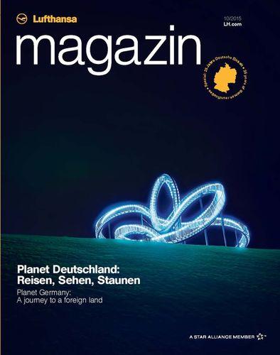 Michael Haegele with cover for Lufthansa Magazine