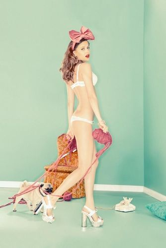 "ESTHER HAASE for VANITY FAIR ITALY ""COLORFUL LINGERIE"""